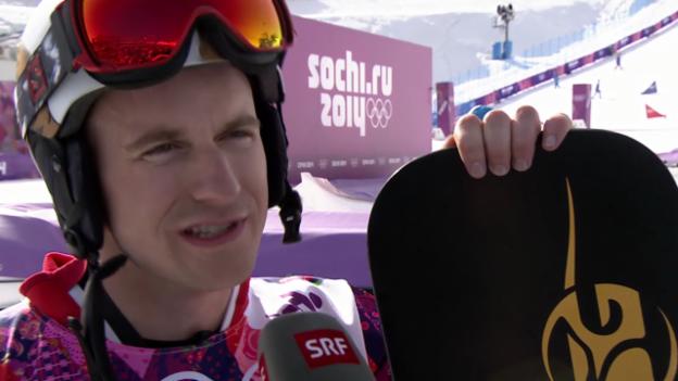 Video «Snowboard: Parallel-Slalom, Interview mit Nevin Galmarini (sotschi direkt, 22.02.2014)» abspielen