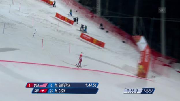 Video «Ski: Zusammenfassung Slalom der Frauen (21.02.2014)» abspielen