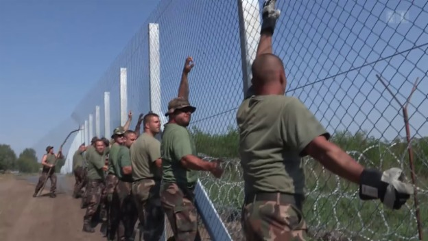 Video «Neuer «Eiserner Vorhang» an Ungarns Grenze» abspielen
