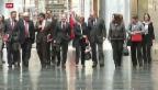 Video «Deutsche Partei-Spitzen wollen Koalitions-Verhandlungen» abspielen