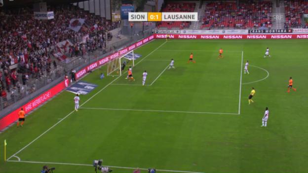 Video «Margiotta streichelt den Ball in die lange Ecke» abspielen