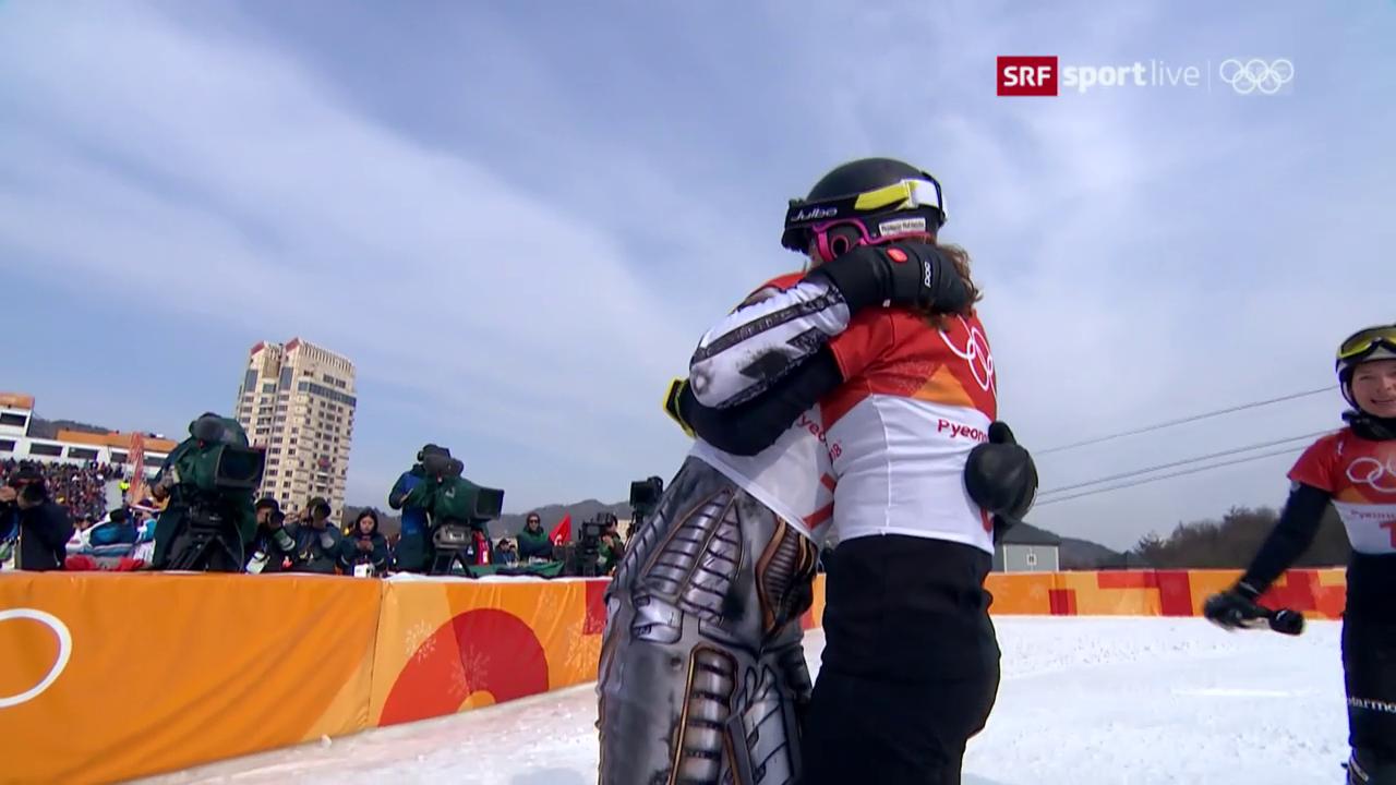 Der Frauenfinal zwischen Ledecka und Jörg