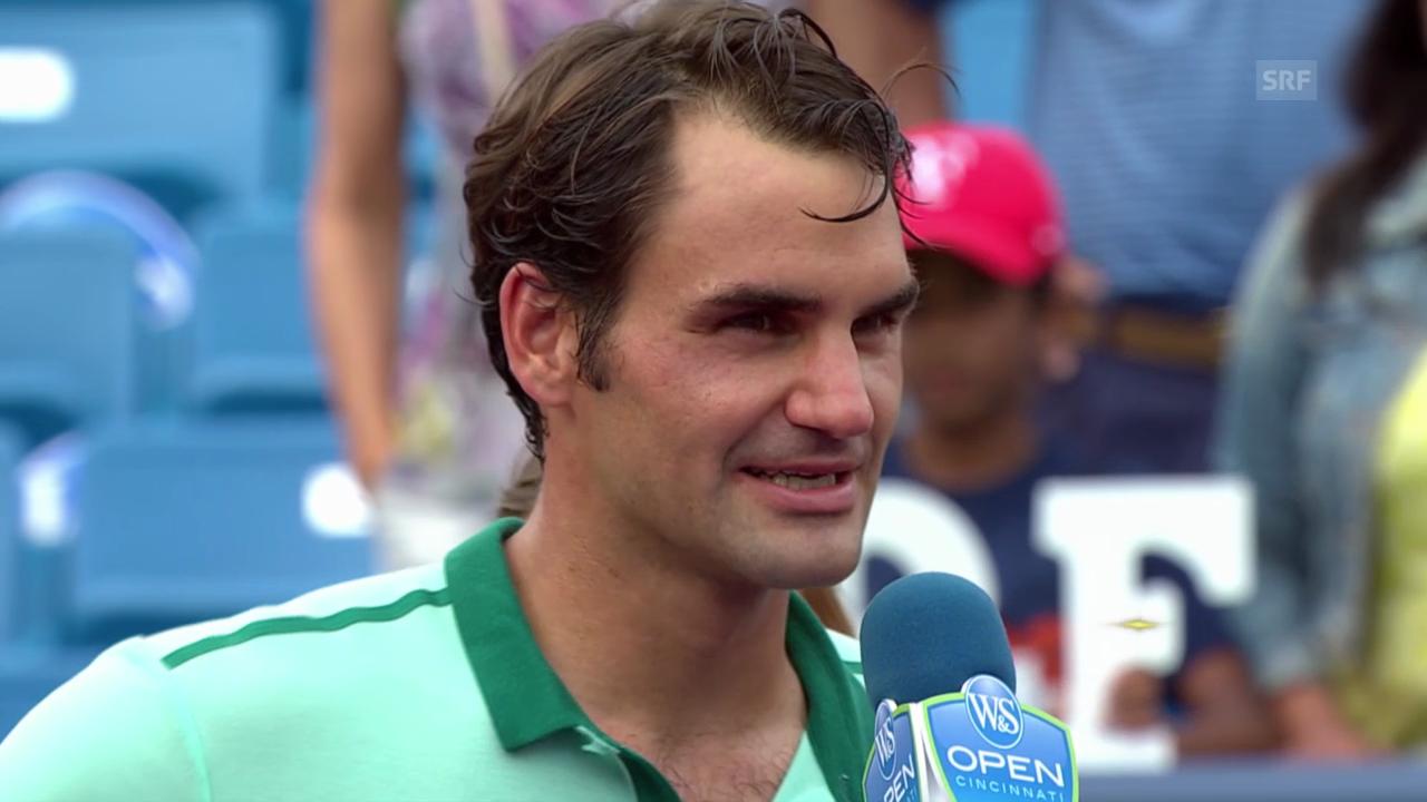 Tennis: Platzinterview mit Roger Federer