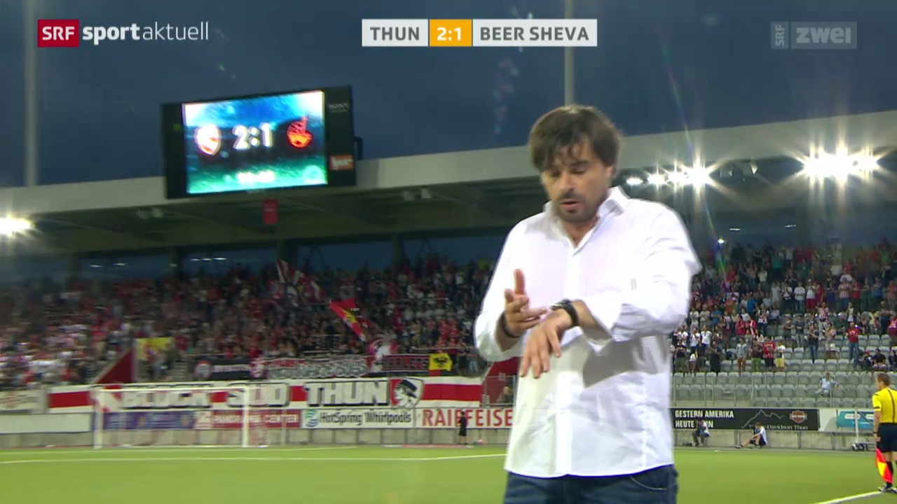 Fussball: EL-Quali, Thun - Beer Scheva