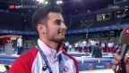 Video «Brägger nach seinem Goldgewinn: «Diese Übung erträumte ich mir»» abspielen