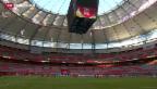 Video «Zum ersten Mal in einem WM-Stadion» abspielen