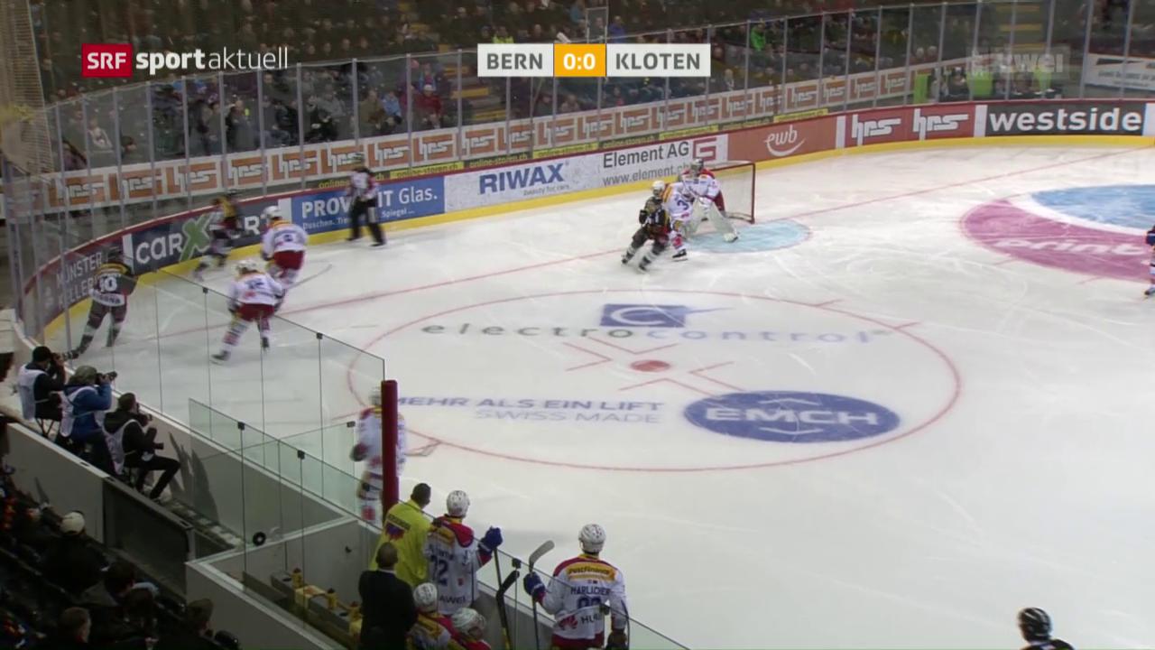 Kloten verliert in Bern und ist aus dem Playoff-Rennen