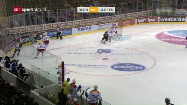 Video «Kloten verliert in Bern und ist aus dem Playoff-Rennen» abspielen