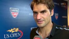 Video «Tennis: Interview Federer nach Achtelfinal» abspielen