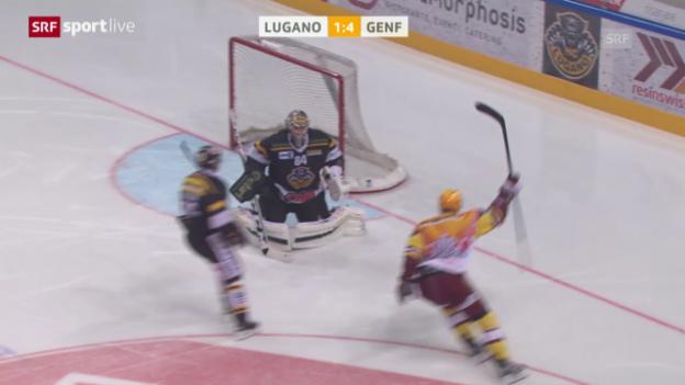 Video «Eishockey: NLA, Playoff-Viertelfinal, Lugano-Genf-Servette, 5. Spiel» abspielen