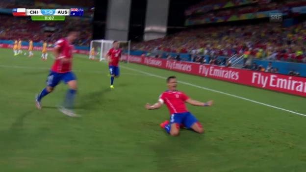 Video «Sanchez' WM-Tor gegen Australien» abspielen