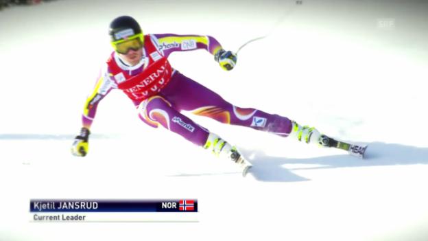 Video «Ski: Jansruds Saison im Super-G» abspielen