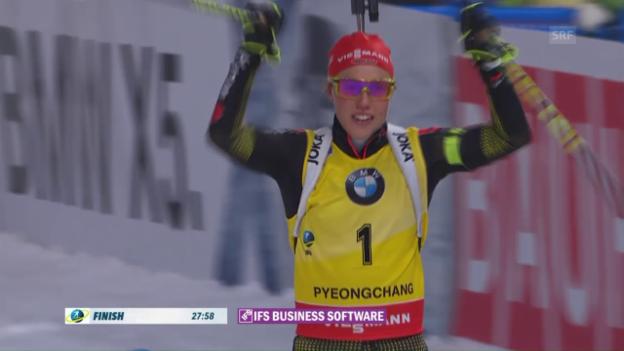 Video «Dahlmeier triumphiert in Pyeongchang» abspielen