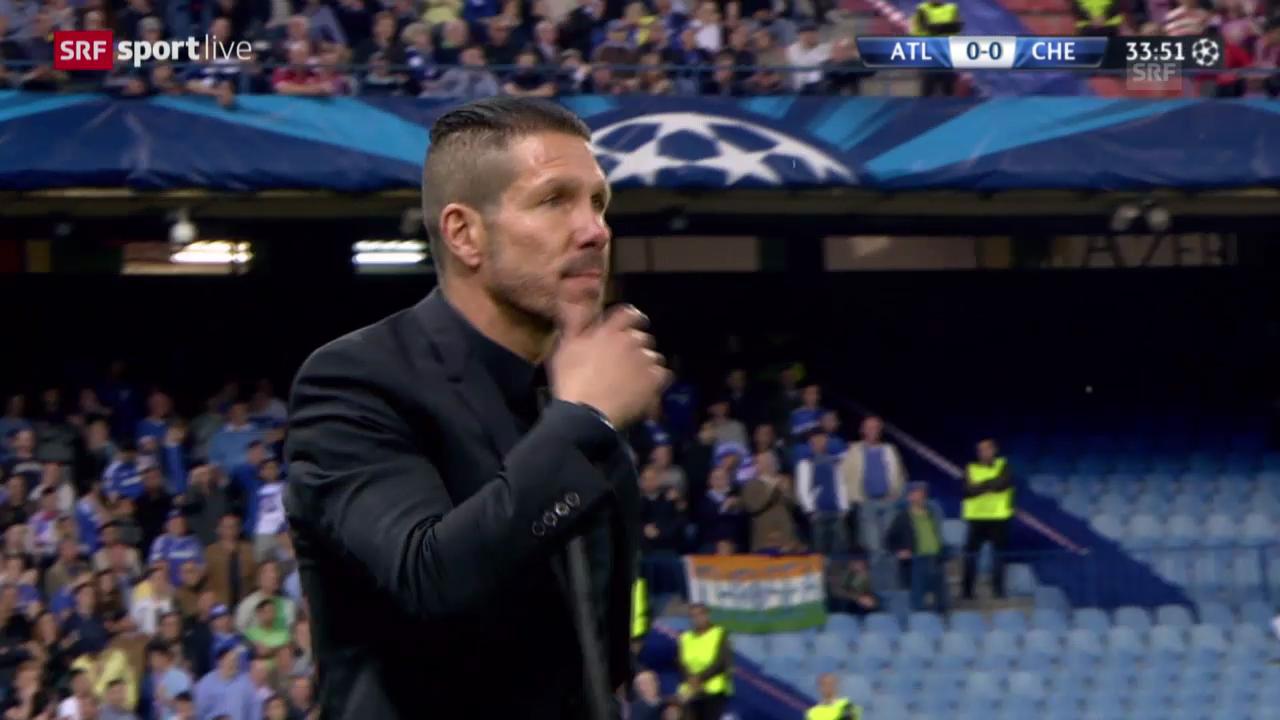 Halbfinal-Hinspiel: Atletico - Chelsea 0:0