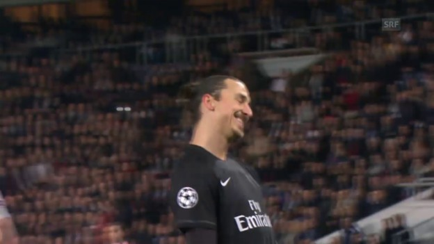 Video «Fussball: CL, PSG-Donezk, Ibrahimovic-Chance» abspielen