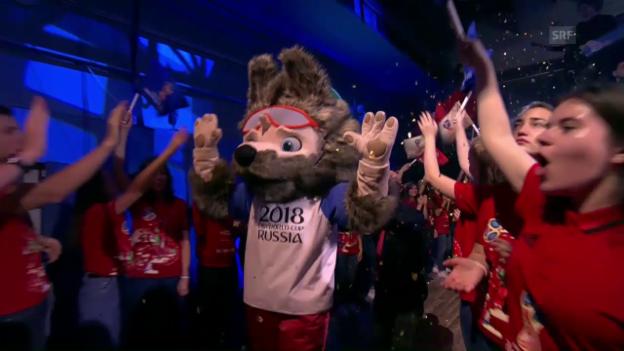 Video «Russen wählen Wolf zum WM-Maskottchen (sntv)» abspielen