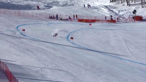 Video «Ski Alpin, 1. Abfahrtstraining, Fahrt von Mauro Caviezel («sotschi direkt», 6.2.2014)» abspielen