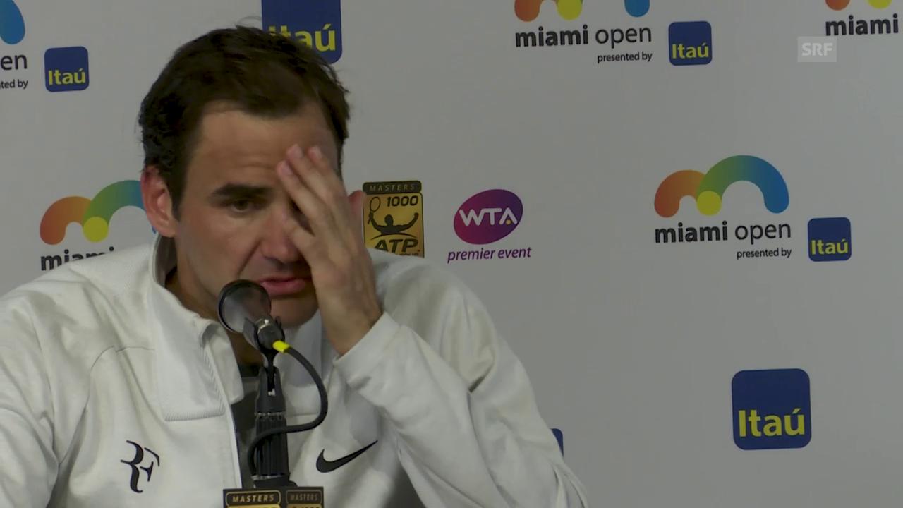 Federer: «Bin mit den Bedingungen nicht klar gekommen»