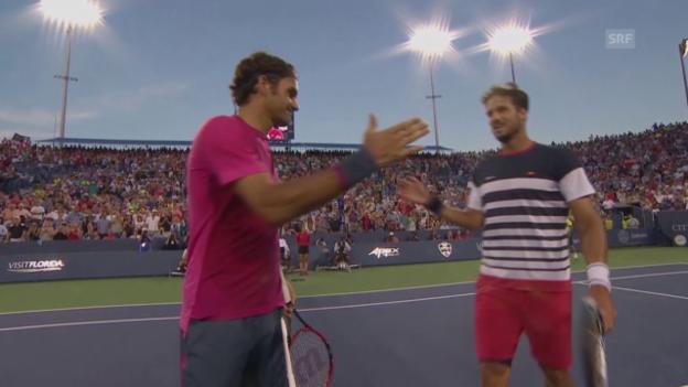 Video «Tennis: Cincinnati, Viertelfinals Federer - Lopez» abspielen