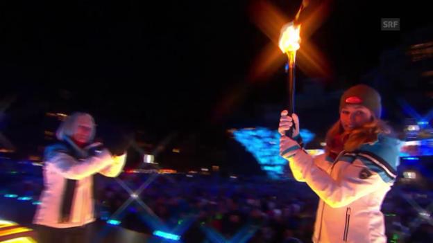 Video «Ski: Eröffnungsfeier der WM in Vail» abspielen