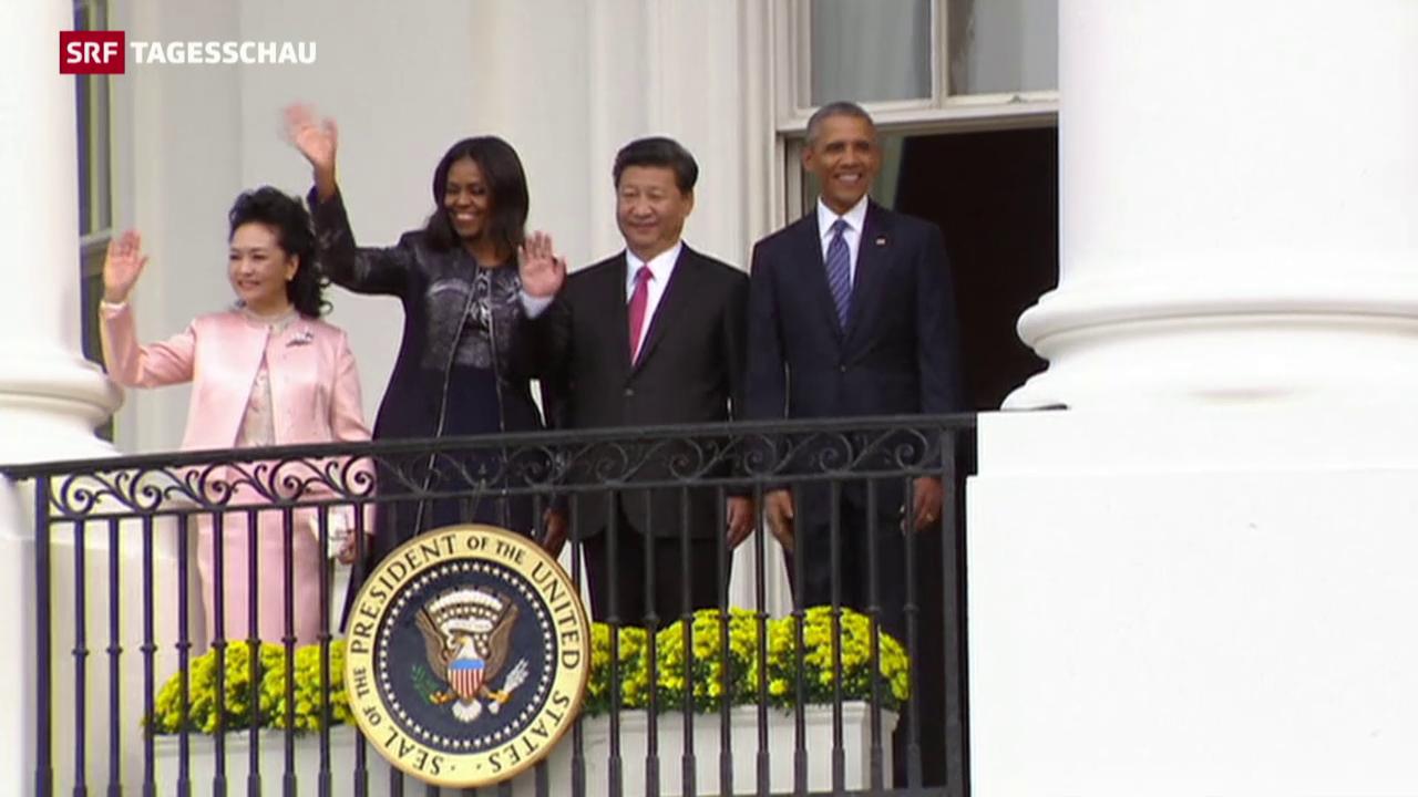 Chinas Präsident Xi auf Besuch in den USA