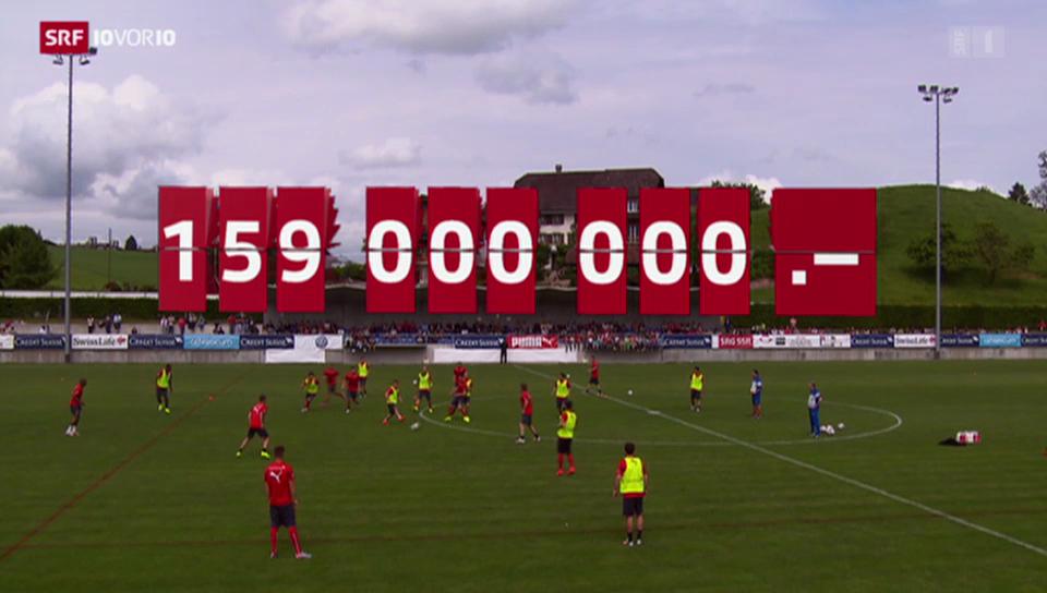 Die teuerste Fussball Nationalmannschaft
