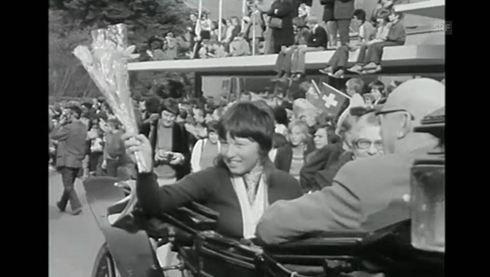 1972: Pauken und Trompeten für die Olympia-Siegerin Marie-Theres Nadig