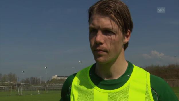 Video «Fussball: St. Gallens Captain Philippe Montandon über die aktuelle Siegesserie» abspielen