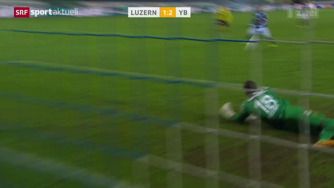 Fussball: Super League, Luzern - YB
