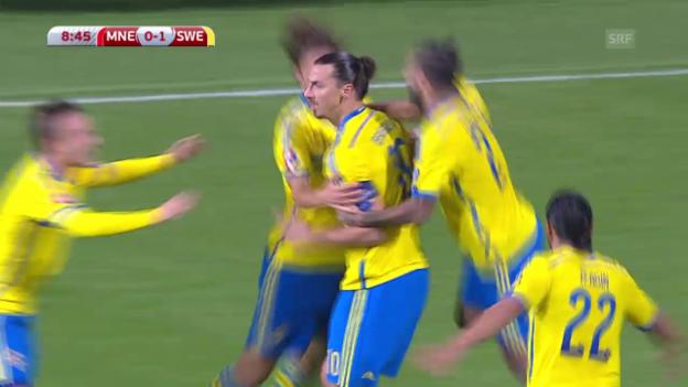 Video «Fussball: EM-Quali, Montenegro-Schweden» abspielen