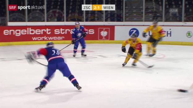 Video «Eishockey: CHL, ZSC Lions-Vienna Capitals» abspielen