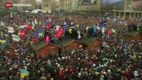 Video «Demonstrationen in der Ukraine» abspielen
