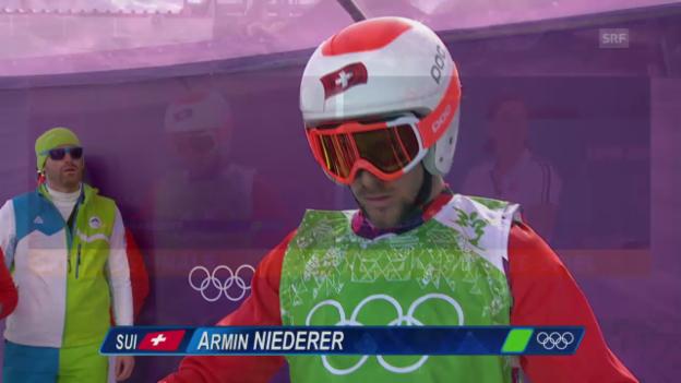 Video «Skicross: Männer, Kleiner Final mit Armin Niederer (sotschi aktuell, 20.2.2014)» abspielen