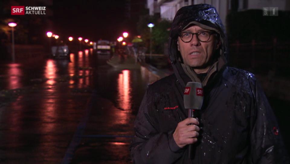 SRF-Korrespondent Gianluca Galgani zur Hochwasserlage in Locarno
