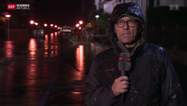Video «SRF-Korrespondent Gianluca Galgani zur Hochwasserlage in Locarno» abspielen