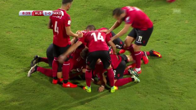 Video «Alle Tore bei Albanien - Mazedonien» abspielen