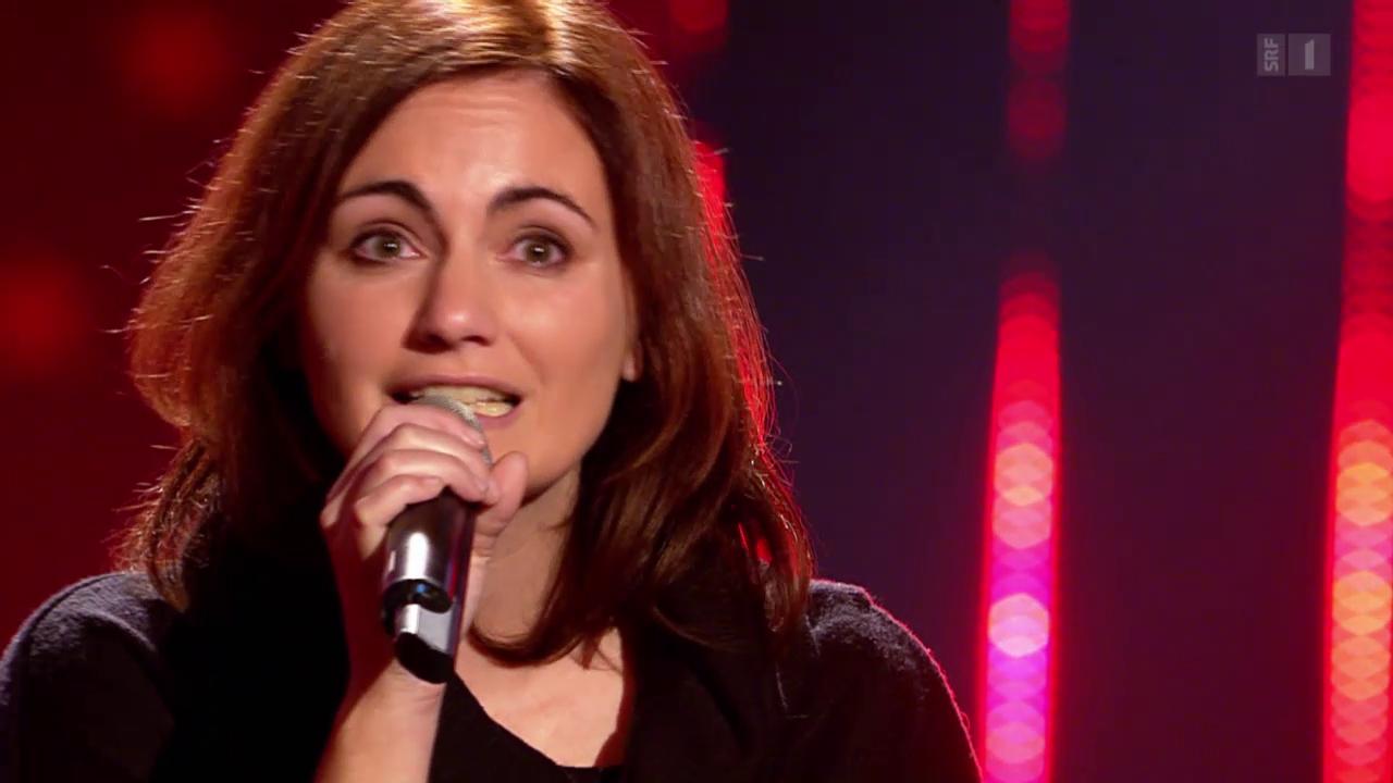Jessica Maurer singt sich mit ihrer Eigenkomposition «Du bisch hie» zum Golden Buzzer