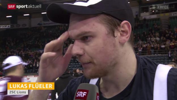Video «Eishockey: Playoff-Halbfinal, Genf - ZSC, Stimmen zum Spiel» abspielen