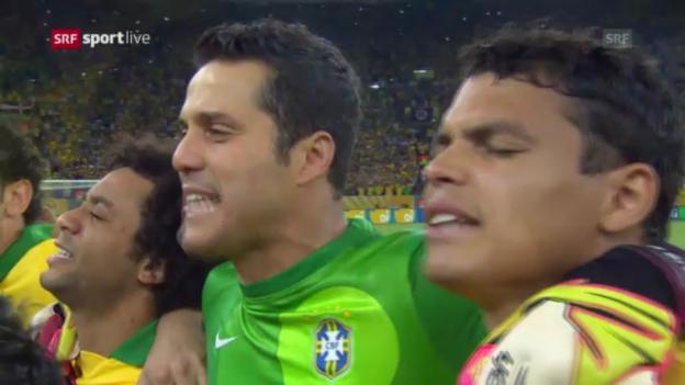Video «Gänsehaut bei der brasilianischen Nationalhymne» abspielen