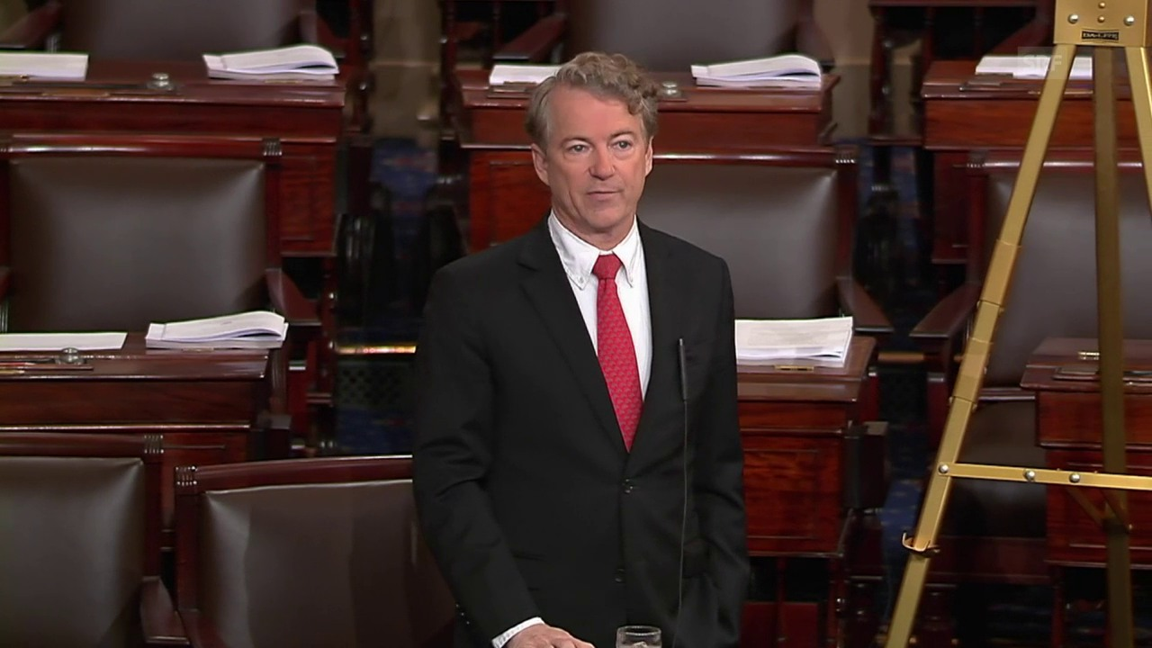Senator Rand Paul begründet seine Haltung (engl. Originalton)