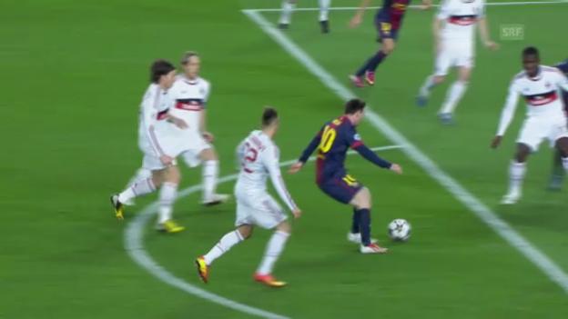 Video «CL: Barcelona - AC Milan, Spielbericht» abspielen