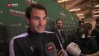 Video «Federer verzückt beim Geld sammeln» abspielen