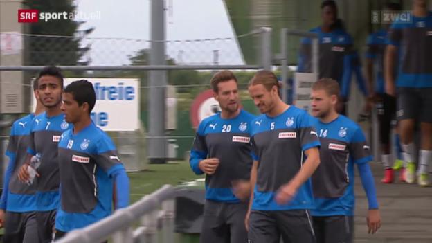 Video «Fussball: GC vor dem EL-Hinspiel gegen Brügge» abspielen