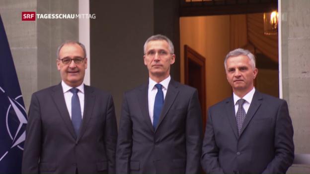 Video «Nato-Generalsekretär in der Schweiz» abspielen
