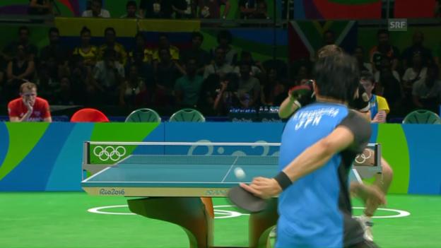 Video «Yoshimuras Zauberschlag im Team-Halbfinal» abspielen