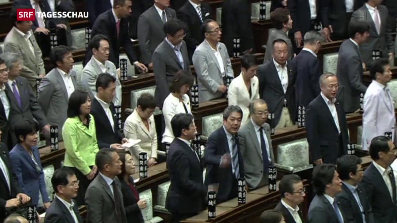 Japan: Neues Sicherheitsgesetz erlaubt Kampfeinsätze im Ausland