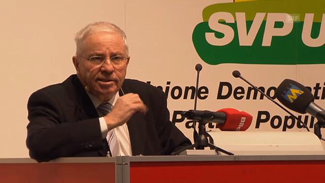 Rede Blochers an der SVP-DV