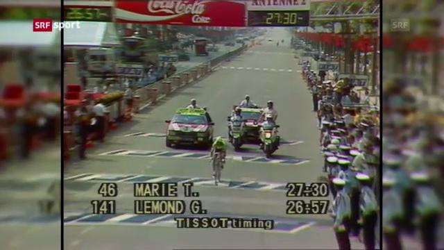 Serie 100. Tour de France: Lemond fängt Fignon ab