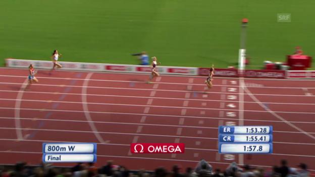 Video «Leichtathletik-EM: Der 800-m-Final der Frauen» abspielen