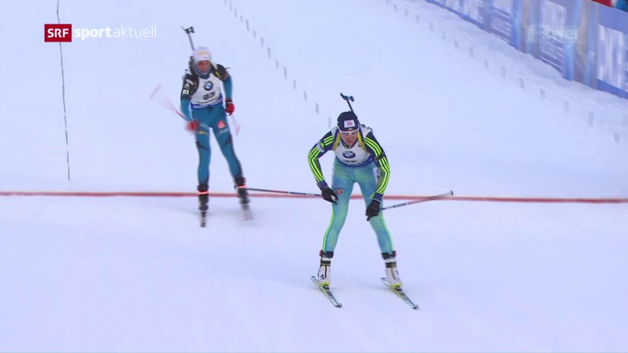 Lena Häcki im Sprint in den Top 15